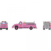 Athearn RTR 4639 - HO Ford F-850 - Fire Truck - County Fire/Pink