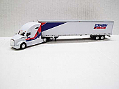 Trucks n Stuff TNS032 - HO Kenworth T680 Sleeper-Cab Tractor - 53ft Dry Van Trailer - Con-Way Truckload