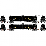 Athearn Genesis 67944 - HO 486 Series - TankTrain A/B Set - GATX/Black Small #28227/28238