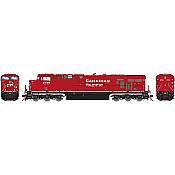 Athearn G83173 - HO Scale ES44AC DCC/Sound Diesel- Canadian Pacific #8717