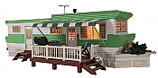 Woodland Scenics 5060 HO Grillin & Chillin Trailer w/Lights - Built-&-Ready(R) Landmark Structure(R)