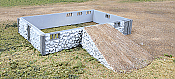 Walther's Cornerstone Rural USA Fieldstone Barn Base & Ramp - Kit (Resin)
