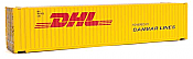 Walthers 8560 HO SceneMaster - 45 Ft CIMC Container - Assembled - DHL - Danmar Lines