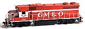 Athearn G65454 HO EMD GP38-2 Phase 1a w/DCC & Sound, Gulf, Mobile & Ohio #745