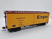 Rapido Trains 121056-2 - HO 37ft General American Meat Reefer - Kingan (Largo Logo) #3080