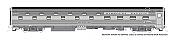 Rapido 141018 - HO Budd Slumbercoach - Missouri Pacific #699 Southland