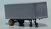 Sylvan Scale Models 001 HO Scale - 1935 22ft Trailmobile Van Trailer - Unpainted and Resin Cast Kit