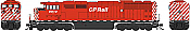 Bowser 25012 - HO GMD SD40-2f - DCC & Sound - CP (Rect Porthole Sill Dashes) #9021