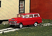 Sylvan Scale Models 319 HO Scale - 1955-56 GMC 1/2 Ton Carryall Suburban - Unpainted and Resin Cast Kit
