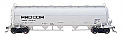 Intermountain Railway 48907-4 HO Procor Pressure Flow Hoppers Procor #126003