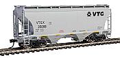 Walthers Mainline 7564 - HO 39ft Trinity 3281 2-Bay Covered Hopper - VTG North America/VTGX #350008