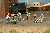 Bachmann Industries 33105 HO Railroad Personnel - Construction Workers pkg(6)