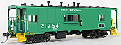 Tangent Scale Models 60112-04 - HO N7 Class Steel Bay Window Caboose - Penn Central (Green Repaint 1975+) #21754