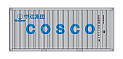 Intermountain HO 30057-3 A-Line, 20' Corrugated Containers with Corrugated Doors,  Cosco CBHU #s 372814, 382388