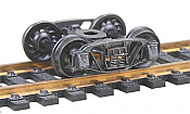 "Kadee 509 HO 1898 Andrews Fully Sprung Metal Trucks Code 110 (.110"") 33"" Ribbed-Back RP-25 Wheels 1 Pair"