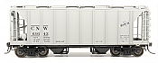 Intermountain 48687-06 HO 1958 Cu Ft 2 Bay Covered  Hopper- Closed Sides - Chicago and North Western #69383
