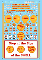 Microscale 87-990 HO Scale - Shell Service Station (1935-1960) - Gas Stations - Waterslide Decal