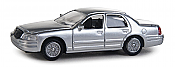 Walthers SceneMaster 12023 HO - Ford Crown Victoria Police Interceptor - Unmarked Unit (silver)