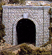 Woodland Scenics 1253 HO Tunnel Portal-Cut Stone - Single Track