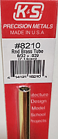 K&S Engineering 8210 All Scale - 9/32 inch OD Round Brass Tube - 0.029inch Thick x 12inch Long