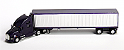 Trucks n Stuff American Tractor/Trailer Kenworth T700 Day Cab w/53 Ft Reefer Van Trailer (Purple, Chrome Trailer)