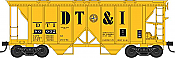 Bowser HO 42217 70-Ton 2-Bay Coverde Hopper with Open Sides -  Detroit, Toledo & Ironton 80008