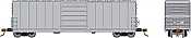 Rapido 139011 HO Scale - Evans X72/X72A Box car: Undecorated Kit - Single Car