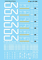 Microscale Decals 871300 HO Scale - Canadian National 50Ft Boxcars-1990-2007 - Waterslide Decal
