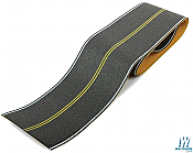 Walthers SceneMaster 1252 Flexible Self-Adhesive Paved Roadway Vintage and Modern No Passing Zone