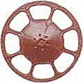 Kadee 2035 HO Modern Brake Wheel - Red Oxide