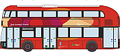 Oxford Diecast NNR006 - N Scale 2013 New Routemaster Bus - Assembled -- East London Transit