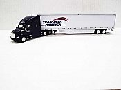Trucks n Stuff TNS045 - HO Kenworth T680 Sleeper-Cab Tractor - 53ft Dry Van Trailer - Transport America