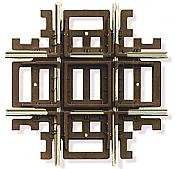 Atlas Model Railroad 577 HO Code 83 Crossing - Nickel Silver w/Brown Ties - 90 Degrees