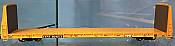Atlas Trainman 20005078 HO - 62 ft Bulkhead Flat Car - TTX w/stripes #804030