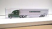 Trucks n Stuff TNS037 - HO Kenworth T680 Sleeper-Cab Tractor - 53ft Dry Van Trailer - Interstate Distribution