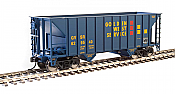 Walthers Mainline 6919 HO - 34Ft 100-Ton 2-Bay Hopper - Ready to Run - Golden West #629540