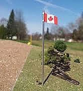 Stewart 951 Canada Flag with Pole - 3 units