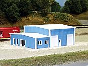 Pikestuff 8006 - N Scale Contractors Building (Scale: 40 x 60ft) - Blue