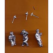 Juneco Scale Models C-100 - Hobos - 3 Unpainted Figures