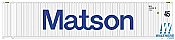 Atlas HO 20004688 45Ft Matson Corrugated Containter 3 pk