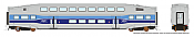 Rapido 146003 HO - Single BiLevel Commuter Car - AMT Montreal - Unnumbered