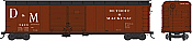 Bowser 41621 HO Class X32 Double-Door Round Roof 50 Ft Boxcar - Executive Line - Detroit & Mackinac #3459