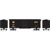 Athearn 73700 HO - RTR 40Ft Youngstown Door Box - SP/Black Overnight #98002