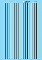 Microscale 91102 HO Scale - Striping - 3In and 4¾In widths - Black - Waterslide Decal