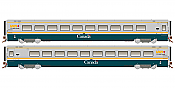 Rapido 108045 HO Scale LRC Coach VIA Green Scheme Unnumbered Pre-Order