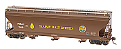 Intermountain Railway 47047-05 HO ACF 4650 Cubic Foot 3-Bay Hopper - Prairie Malt Limited PMLX #1021