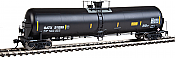 WalthersProto 100717 HO Scale 55 Trinity Modified 30,145-Gallon Tank Car - Ready to Run General American Tankcar 211439 (black, white; Conspicuity Marks) 920-100717