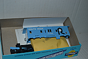 Rail Runner 273 HO Scale Bay Window Caboose The Rock (blue roof, sides and white ends) #17180 RR-273