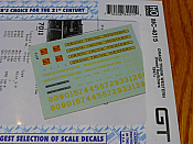 Microscale Decals 4015 HO - Grand Trunk Western Diesel Switchers (1947+)