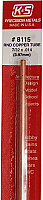 K&S Engineering 8115 All Scale - 7/32 inch OD Round Copper Tube 0.014inch Thick x 12inch Long